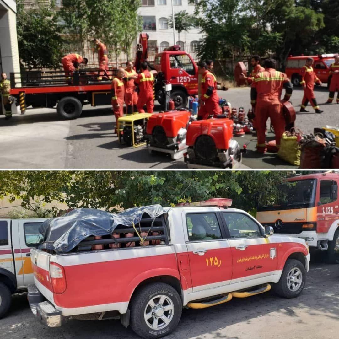 آتش نشانان تهران برای مشارکت در عملیات اطفای حریق مراتع و مناطق جنگلی راهی یاسوج می شوند